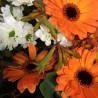 Bouquet du fleuriste orange