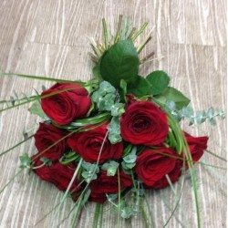 bouquet de roses rouges capri
