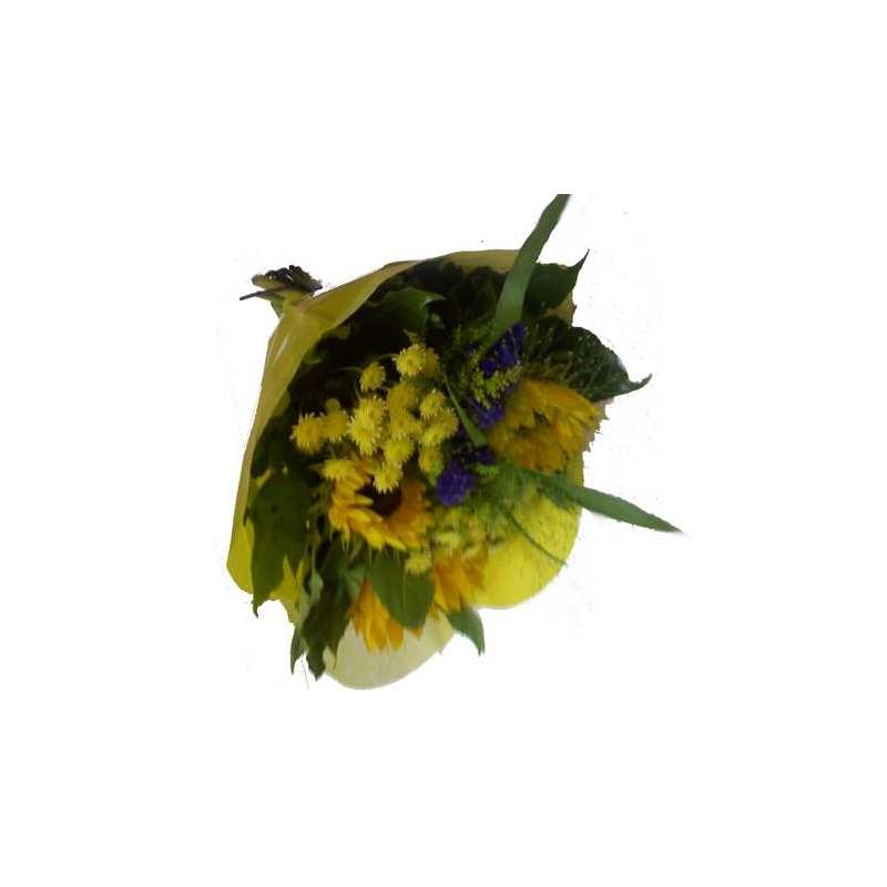 gerbe de fleurs colorees